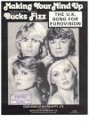 Making Your Mind Up (1980) Andy Hill John Danter Bucks Fizz used piano vocal guitar sheet music score for sale in Australian second hand music shop