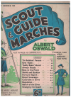 Scout & Guide Marches by Albert Oswald (Banks c.1930) Gem Series 50 used childrens piano book for sale in Australian second hand music shop