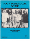 Pour Some Sugar On Me (1986) Clark/Collen/Elliott/Savage/Lange Def Leppard used piano sheet music score for sale in Australian second hand music shop