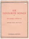 Richard Strauss Six Favourite Songs for Medium Voice and Piano Universal Edition No.10244 used lieder piano song book for sale in Australian second hand music shop