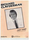 Richard Clayderman Easy Piano music by- Paul de Senneville arranged Margaret Brandman used piano book for sale in Australian second hand sheet music shop