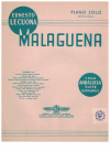 Malaguena from Andalucia Suite Espagnole for piano by Ernesto Lecuona used original piano sheet music score for sale in Australian second hand music shop