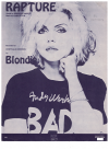 Rapture (1980) Deborah Harry Chris Stein Blondie used piano sheet music score for sale in Australian second hand music shop