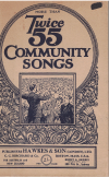 More Than Twice 55 Community Songs (1926) used choral song book for sale in Australian second hand music shop