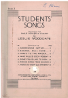 Students' Songs Book 3 arranged Leslie Woodgate (1937) used choral song book for sale in Australian second hand music shop