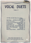 Vocal Duets Volume 2 arranged Denis Tyrrel (1945)  