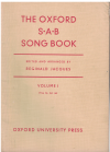 The Oxford SAB Song Book Volume I edited & arranged by Reginald Jacques (1951) 