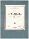 6 Vocal Duets by Henry Purcell Augener Edition No.4129 used vocal duet song book for sale in Australian second hand music shop