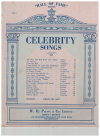 Hall Of Fame Series Vol.1 Celebrity Songs piano lieder songbook (1938) used lieder piano song book for sale in Australian second hand music shop