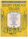 Eight Famous Valses By Popular Composers piano book (Chappell Popular Albums) used piano book for sale in Australian second hand sheet music shop
