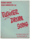 Flower Drum Song Vocal Score by Richard Rodgers Oscar Hammerstein II (1960) used vocal score for sale in Australian second hand music shop