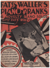 'Fats' Waller's Piano Pranks 6 Novelty Piano Solos Featured By 'Fats' Waller (1931) used piano book for sale in Australian second hand music shop