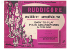 Selections From The Savoy Opera Ruddigore Songbook Easy-to-Play Piano Arrangements W S Gilbert Arthur Sullivan arranged Felton Rapley 