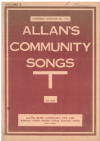 Allan's Community Songs Volume 5 choral songbook Imperial Edition No.373 used choral song book for sale in Australian second hand music shop