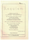 Requiem for choir (Introit and Kyrie Agnus Dei In Paradisum Tantum Ergo) choral score by Bruce McNicol Australian composer (2003) 