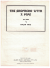 The Shepherd With A Pipe for piano by Edgar Moy (1935) used original piano sheet music score for sale in Australian second hand music shop