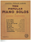 Album Of Ten Favourite Piano Solos By Modern Composers (Chappell Popular Albums) used piano book for sale in Australian second hand sheet music shop