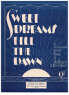 Sweet Dreams Till The Dawn (1932) Eric L Morris Jack Ricketts used Australian piano sheet music score for sale in Australian second hand music shop