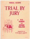 Trial By Jury Vocal Score W S Gilbert Arthur Sullivan used book for sale in Australian second hand music shop