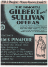 H M S Pinafore or The Lass That Loved A Sailor: Famous Numbers From Act 1 (The Immortal Gilbert and Sullivan Operas 