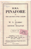 H M S Pinafore or The Lass That Loved A Sailor Libretto by Gilbert and Sullivan used book for sale in Australian second hand music shop
