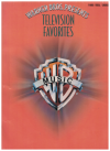 Warner Bros Presents Television Favorites PVG songbook (1995) ISBN 0897249445 MF9561 used song book for sale in Australian second hand music shop