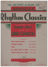 The Second Album Of Famous Rhythm Classics Transcribed For Piano Solo Edited By Eddie Carroll (c.1939) used piano book for sale in Australian second hand music shop