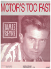 Motor's Too Fast (1988) James Reyne S Hussey used piano vocal guitar sheet music score for sale in Australian second hand music shop