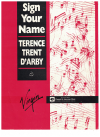 Sign Your Name (1987) Terence Trent D'Arby used piano sheet music score for sale in Australian second hand music shop