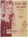 Tell Me Again That You're My Sweetheart (1943) by Harry Beech Australian songwriter used piano sheet music score for sale in Australian second hand music shop