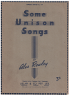 Some Unison Songs by Alec Rowley (1945) Imperial Edition No.617 used choral score for sale in Australian second hand music shop