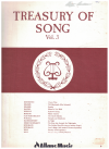 Treasury of Song Volume 3 lieder piano songbook Allans Edition No.464 used song book for sale in Australian second hand music shop