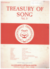 Treasury of Song Volume 5 lieder piano songbook Allans Edition No.466 used song book for sale in Australian second hand music shop