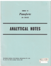 Victorian Council For Musical Education Pianoforte Examinations Series 13 5th Grade Analytical Notes 