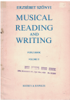 Musical Reading And Writing Pupil's Book Volume II Lessons 31 To 46 (1972) by Erzsebet Szonyi 