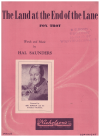 The Land At The End Of The Lane (1942) song by Hal Saunders Australian songwriter used original Australian piano sheet music score for sale in Australian second hand music shop