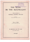 The Rose In The Moonlight (c.1960) by George Selwyn English The Ivan Rixon Singers used original Australian piano for sale in Australian second hand music shop