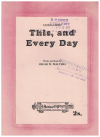 This And Every Day (1946) song by Oscar W Walters Australian songwriter 