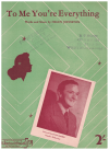 To Me You're Everything (1943) Helen Johnston Australian songwriter Ivan Maher used piano sheet music score for sale in Australian second hand music shop