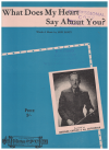 What Does My Heart Say About You? (1945) song by Jack Davey Australian songwriter 