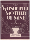 Wonderful Mother Of Mine (1932) Eric L Morris Jack Ricketts used piano sheet music score for sale in Australian second hand music shop