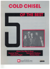 Cold Chisel 5 Of The Best piano songbook (1984) used song book for sale in Australian second hand music shop