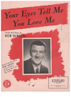 Your Eyes Tell Me You Love Me (1952) Bob Gibson Australian songwriter used piano sheet music score for sale in Australian second hand music shop