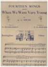 Fourteen Songs from 'When We Were Very Young' by A A Milne music by H Fraser-Simson decorations by 