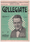 Collegiate (1925) song from show 'Leave It To Jane' by Moe Jaffe Nat Bonx 