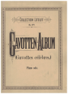Gavotten-Album (Gavottes celebres) transcribed for Piano Solo by E Cury E Tavan (c.1920) Collection Litolff No.977 used classical piano music book for sale in Australian second hand music shop