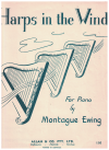 Harps In The Wind for piano by Montague Ewing (1954) used piano sheet music score for sale in Australian second hand music shop