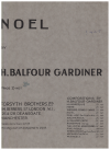 Noel for piano by H Balfour Gardiner (1923) used original piano sheet music score for sale in Australian second hand music shop