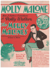 Molly Malone (1927) song sung by Shirley Dale and Florenz Ames in stage production of 'The Merry Malones' by George M Cohan The Cavaliers Dance Band 