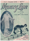 Memory Lane (1924) song sung by Maud Fane in musical revue 'Betty' by B G De Sylva  Larry Spier Con Conrad 